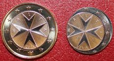 Malta - 1 Euro 2015 (Mint error), only the core was minted