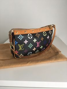 Louis Vuitton - Black Multicolor Monogram  Pochette