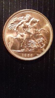 Great Britain - Sovereign 1958 - Elizabeth II - gold