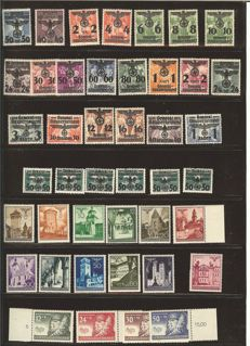 General Government & Bohemia and Moravia - 1940 - 1944 - duplicate collection, MNH, more or less complete