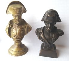 Two Bust depicting Napoleon - in bronze and brass -