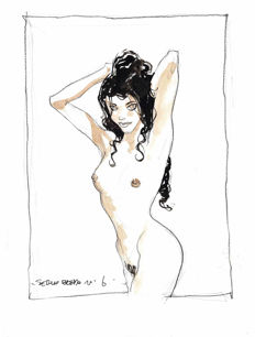 Bleda, Sergio - Original Drawing - Pin-up Girl #2 - (2016)