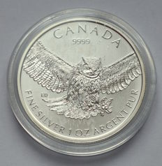 Canada - 5 Dollars 2015 - Eagle - 1 oz 999 Silver