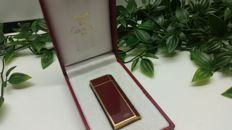 Must de Cartier red Chinese lacquer & gold vintage