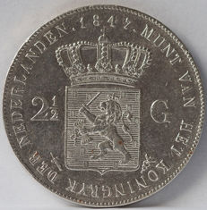 The Netherlands - 2½ guilder 1847, Willem II - silver