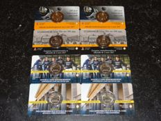 Belgium Coin cards 2017 Ghent University / Liège French + Dutch version (8 pieces in total).