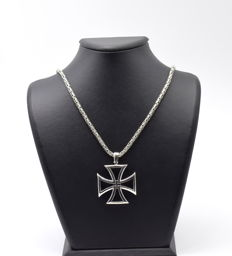 925 Italian sterling silver chain with  Pendant - 60 cm