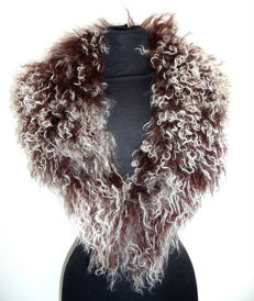 Wonderful Mongolian collar made of Tibetan lambskin, genuine lambskin, fur stole