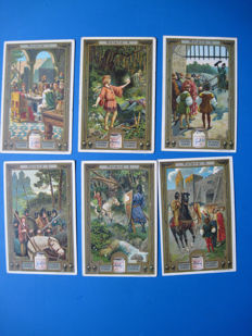 lot of 29 complete series of very old Liebig cards French text.  (172 cards)