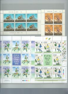 Thematic, sports - Collection on stamps and blocks.