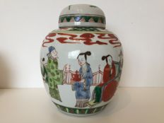 Porcelain jar with lid - China - 19th century