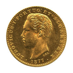 Portugal Monarchy – D. Luis I – 2.000 Réis 1877 – Gold
