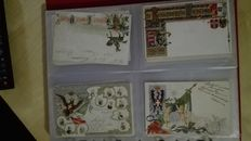 Regimental lot, lot of 43 Italian regiment postcards and World War I events