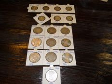 The Netherlands - 1 and 2½ guilder 1958/1967 Juliana - 17 coins in total - silver