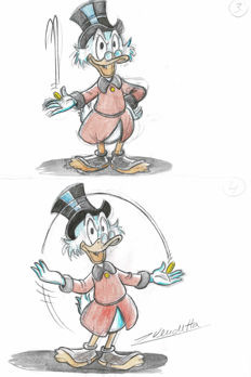 Vendetta, Z. - Original Color Sketch - Uncle Scrooge #3+4