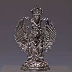 Finely decorated silver Garuda figurine - Indonesia - early 20th century