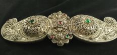 Antique silver buckle with filigree - Greece, first half of 20th century