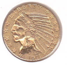 United States - 5 dollars 1911 Indian Head - Gold