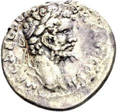 Roman Empire - Silver Denarius of Septimius Severus 193–211 / Fortuna Redux standing left