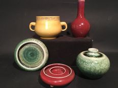 A collection of Chinese monochrome porcelain - China - 2nd half 20th century.
