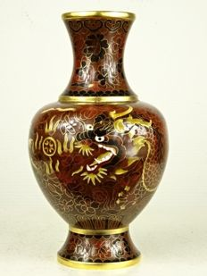 Cloisonné dragon vase - China - second half of the 20th century