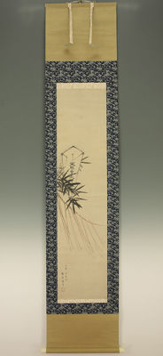"Handpainted sumi-e on paper by Kono Bairei (1844-1895) - ""Shimenawa or Sacred rope"" - Japan - Late 19th century (Meiji)"