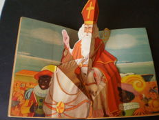 Sinterklaas; Lot with 4 picture books including 1 pop-up book - 1946 / unknown