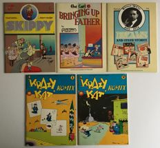Real Free Press - Krazy Kat, Skippy, Bringing Up Father & Dreams and Other Stories - 5x sc - (1974/1976)