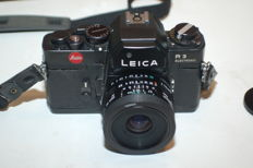 Leica R3 electronic (2 pcs) with Elmar 35/70 mm, Tamron, bellows with 60 mm Novoflex