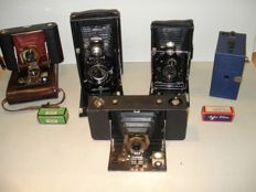 5 antique collector's cameras, great preservation
