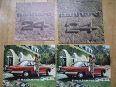 PANHARD 24 c and 24CT lot of 4 brochures circa 1960