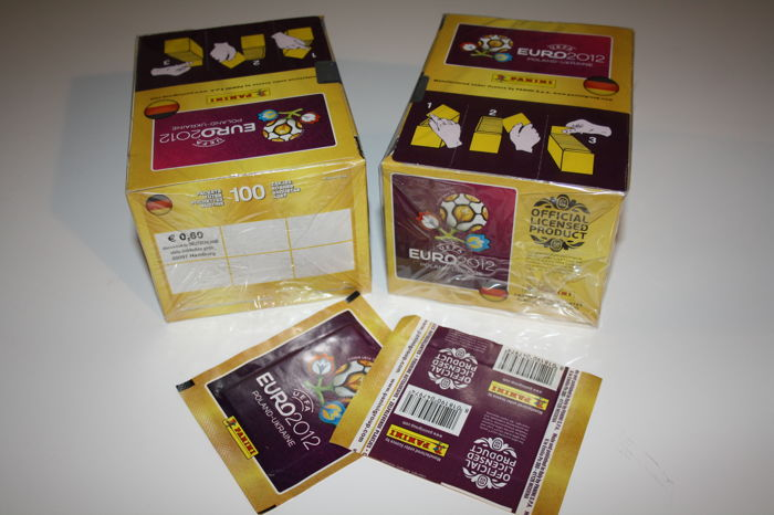 Panini - Euro 2012 - Poland and Ukraine - 2 original unopened boxes + 2 extra packets