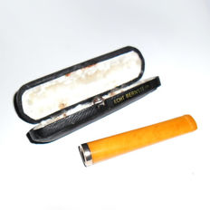 Real Amber - old cigarette tip with case