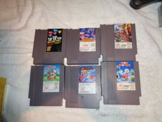 6 NES top games - The Jetsons + Megaman + Balloon fight + Panic Restaurant + Chippendale 2 + Snow brothers