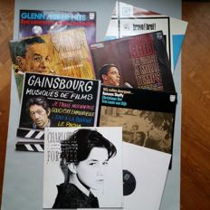 11 LP's; 2x Glenn Miller (A Triplet and a Double Album), Gainsbourg, Charlotte Gainsbourg, Ramses Shaffy, Edith Piaf, 2x Jacques Brel,
