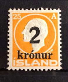 Iceland 1924/1925 - King Frederick - Michel 111, 119