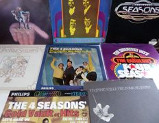 Lot of eight great albums (incl. 4 record-box) of the Four Seasons.