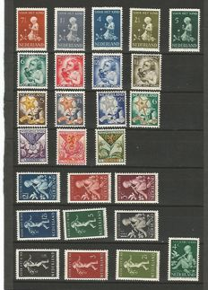 The Netherlands 1925/1931 - Collection of 13 series of Child relief stamps