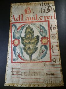 Parchment of the Spanish choir - 15th century