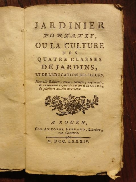 Jardinier portatif ou la culture des quatre classes de for Culture des jardins