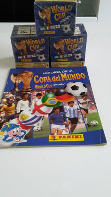 Panini - World Cup Story 1990 - Empty album + 3 x Sealed boxes