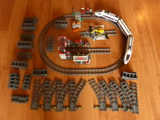 City - 60051 + 7937 + 7936 + rails - high speed train - station - crossing