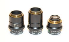 3 Zeiss luminars 16 mm 25 mm 40 mm in new condition, suitable for macro/micro photography See last 2 photos