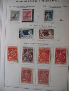 Collection Portugal 1882/1939 – package postal stamps, porto stamps and others.