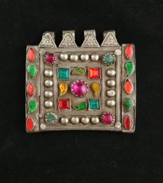 Antique prayers holder box with synthetic stones - Afghanistan, early 20th Century