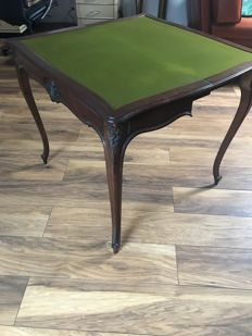 Old style mahogany games table, early twentieth, France