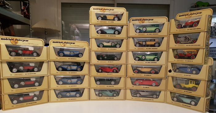 Matchbox Models of Yesteryear - Scale 1/43 - Very nice collection of 27 cars