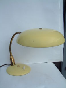 Unknown designer - brass and metal table light.