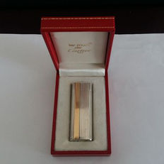 Cartier Paris lighter in 925 silver and 18 kt gold