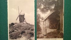 Belgium. Interesting lot with 130 postcards, many small villages, 1900-1945